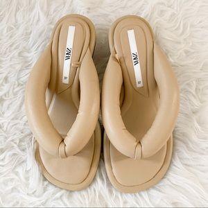 Zara Puffy Slip On Kitten Heels.